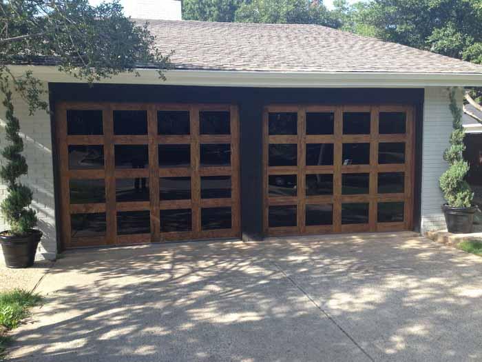 contemporary wood garage door