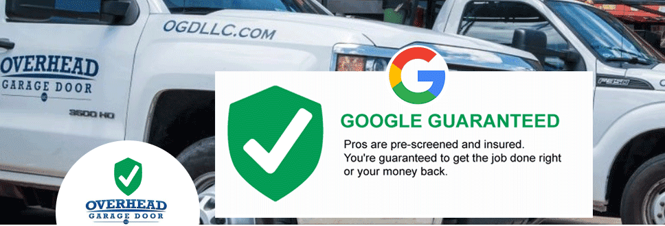 Dallas garage door repair and service office is Google Guaranteed