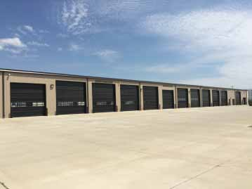 finished commercial garage doors in Dallas