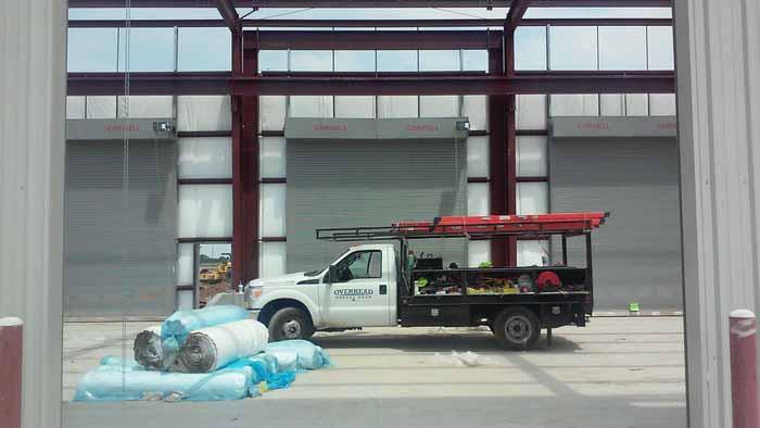 Commercial garage door installations in dallas