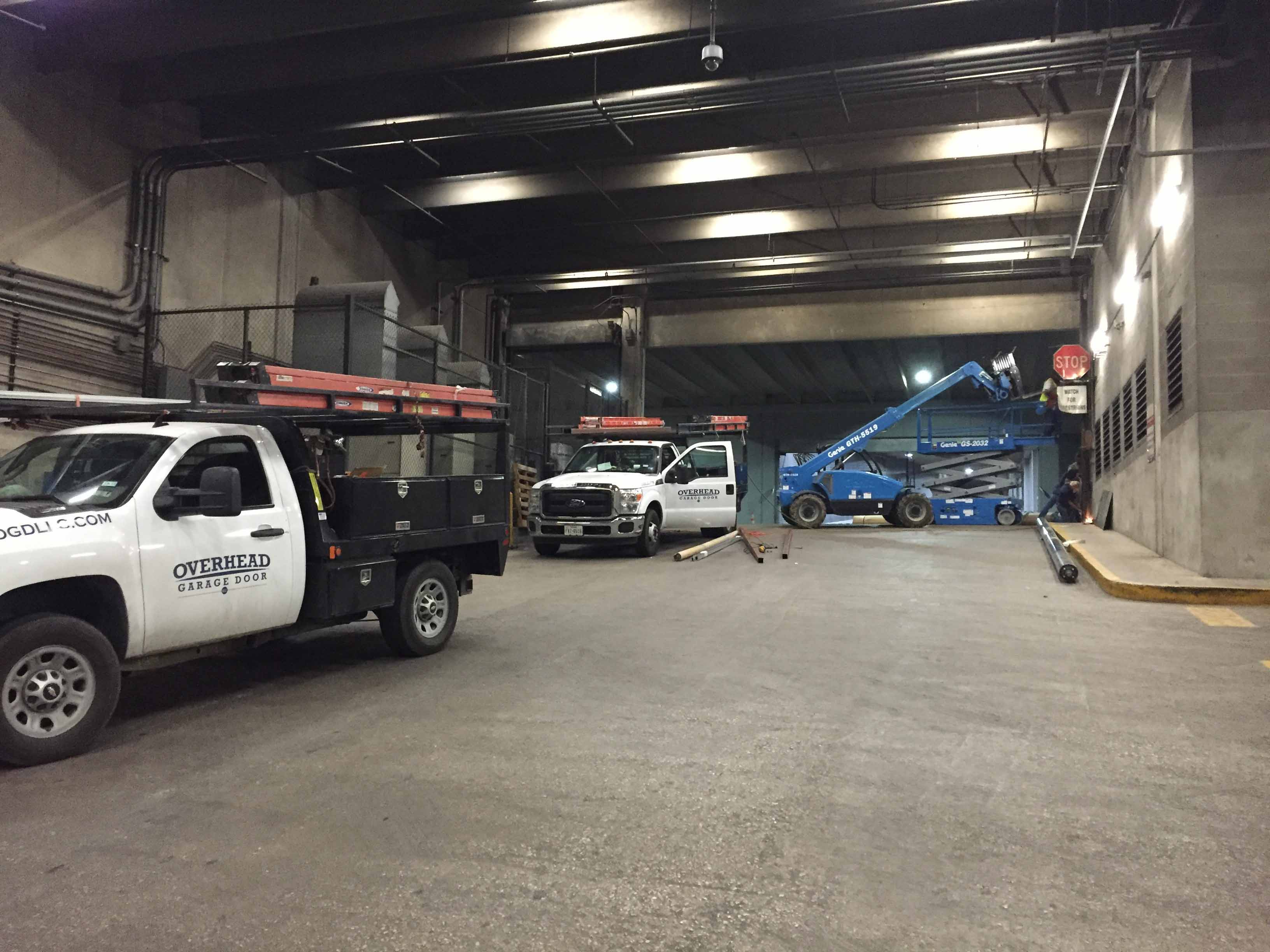 Commercial Garage Door Installation Sundance Square - Fort Worth, TX - Completed 2015