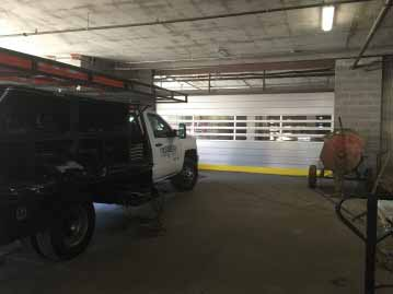 commercial garage door with windows dallas