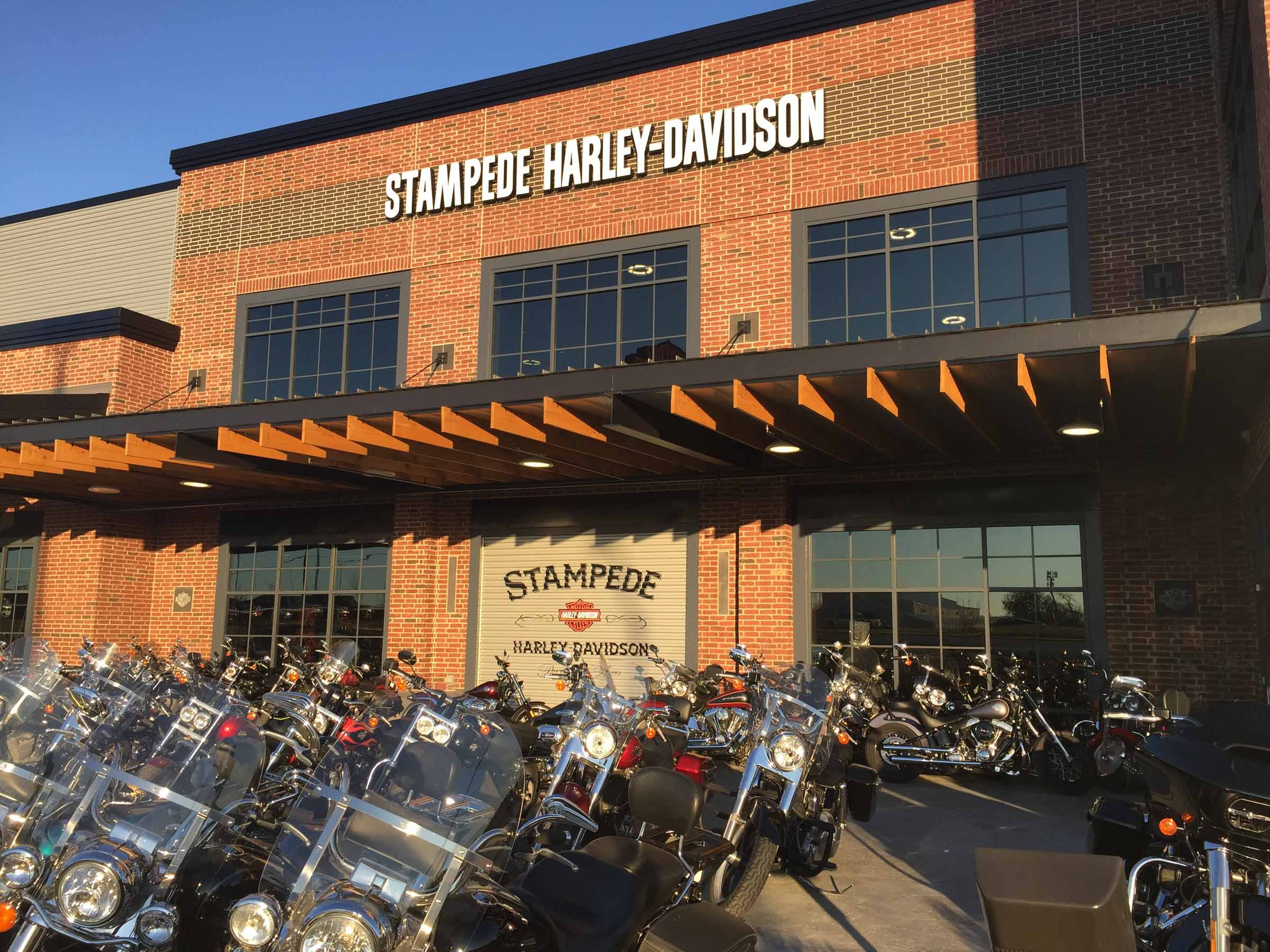 largeHarley Davidson commercial garage doors