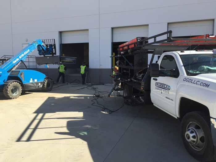 commercial garage door project Dallas