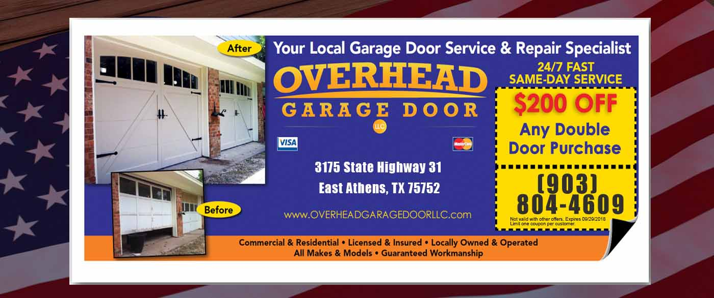 Athens Overhead Garage Door Repair Specials