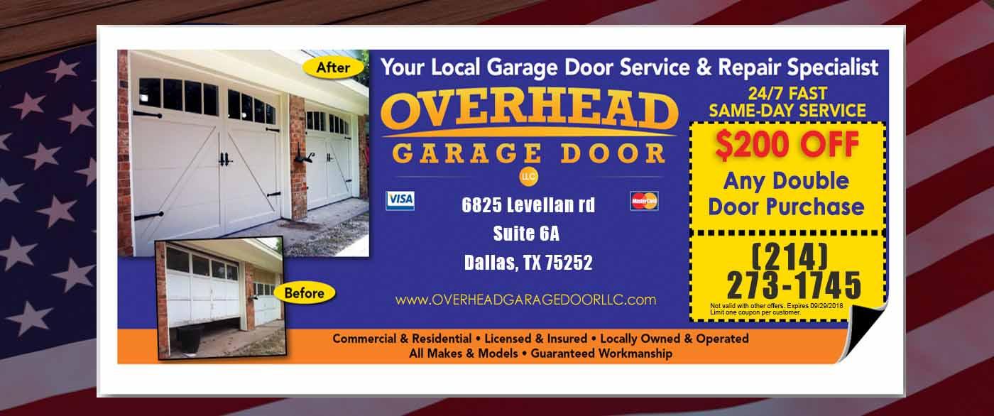Overhead Garage Door Specials from The Lubbock Overhead Garage Door Repair Team