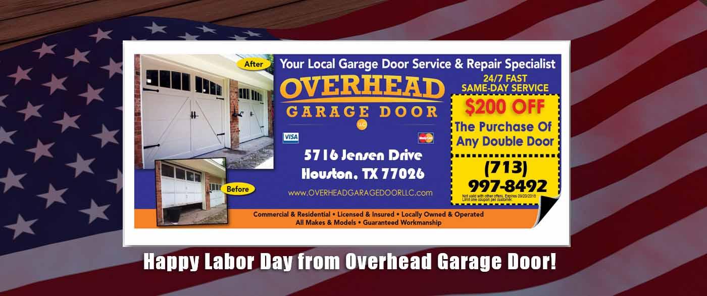 Overhead Garage Door Houston Specials