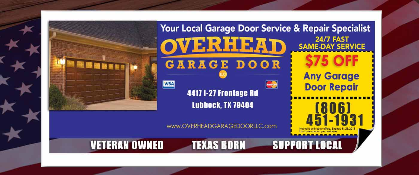 Garage Door Repair in Lubbock Special